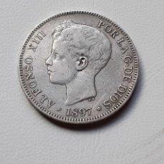Monedas de España: ALFONSO XIII 5 PESETAS PLATA 1897 *18-97 SGV MBC-. Lote 288162188