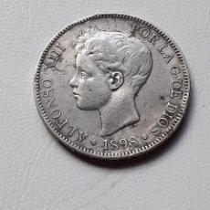 Monedas de España: ALFONSO XIII 5 PESETAS PLATA 1898 *18-XX SGV MBC-/BC+. Lote 288162703