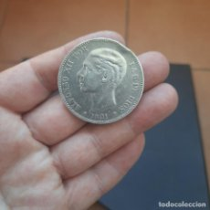 Monedas de España: MONEDA DE 5 PESETAS (DURO) DE ALFONSO XII DEL AÑO 1881*18-81 MS M,DE PLATA.. Lote 288172068