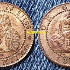 Monedas de España: ESPAÑA. 1 CÉNTIMO COBRE 1870 BARCELONA. BONITA MONEDA EN SC-. PESO 1,03 GR.. Lote 288200318