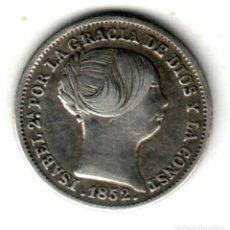 Monedas de España: ESPAÑA: 1 REAL PLATA 1852 SEVILLA REINA ISABEL II. Lote 288205758