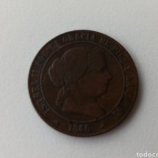 Monedas de España: ISABEL II. AÑO 1866. 5 CÉNTIMOS DE ESCUDO. SEGOVIA.. Lote 288209363