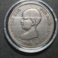 Monedas de España: 5 PESETAS ALFONSO XII 1891* PLATA. Lote 288220388