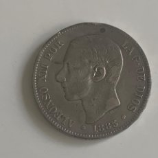Monedas de España: MONEDA 5 PESETAS ALFONSO XII 1885 ( *87 ). Lote 288221833