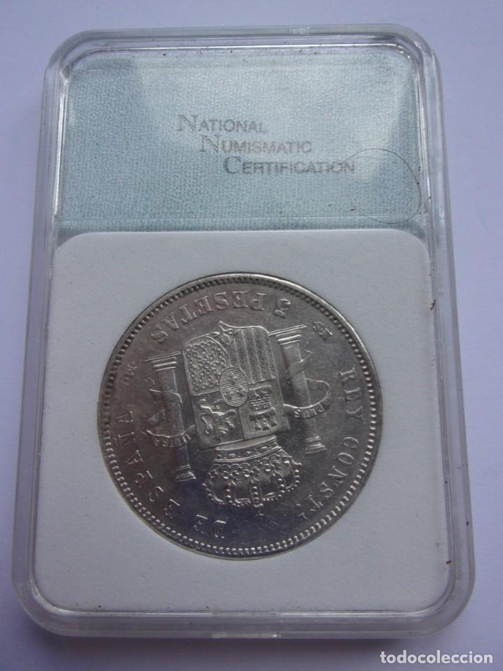 Monedas de España: 37SCK16 España 5 pesetas de plata 1885 (18-87) MSM - Foto 2 - 288228278