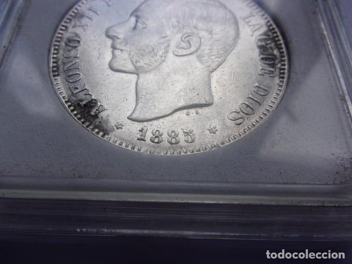 Monedas de España: 37SCK16 España 5 pesetas de plata 1885 (18-87) MSM - Foto 3 - 288228278