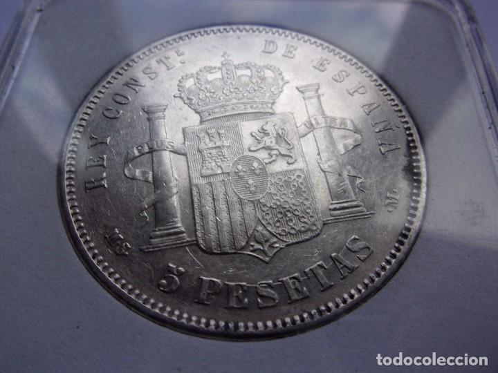 Monedas de España: 37SCK16 España 5 pesetas de plata 1885 (18-87) MSM - Foto 4 - 288228278