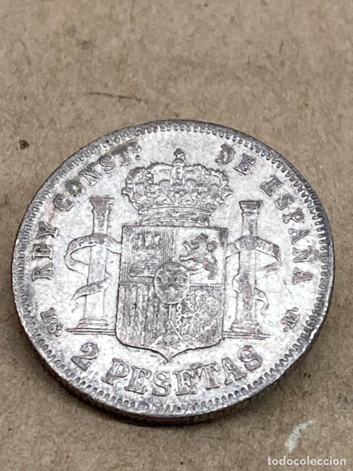 Monedas de España: Moneda de plata 2 pesetas 1882 - Foto 2 - 288480718