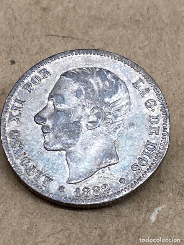 MONEDA DE PLATA 2 PESETAS 1882 (Numismática - España Modernas y Contemporáneas - De Isabel II (1.834) a Alfonso XIII (1.931))