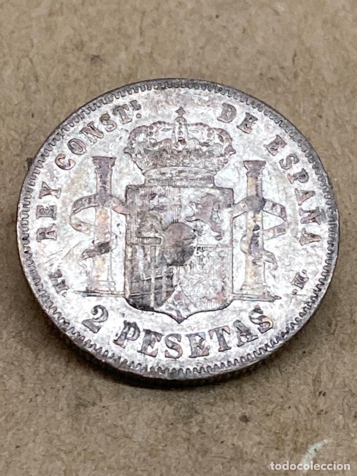 Monedas de España: Moneda de plata 2 pesetas 1879 - Foto 2 - 288480973
