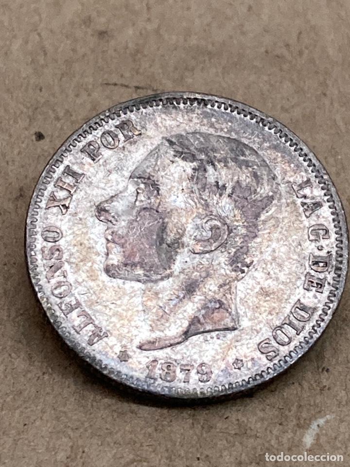 MONEDA DE PLATA 2 PESETAS 1879 (Numismática - España Modernas y Contemporáneas - De Isabel II (1.834) a Alfonso XIII (1.931))