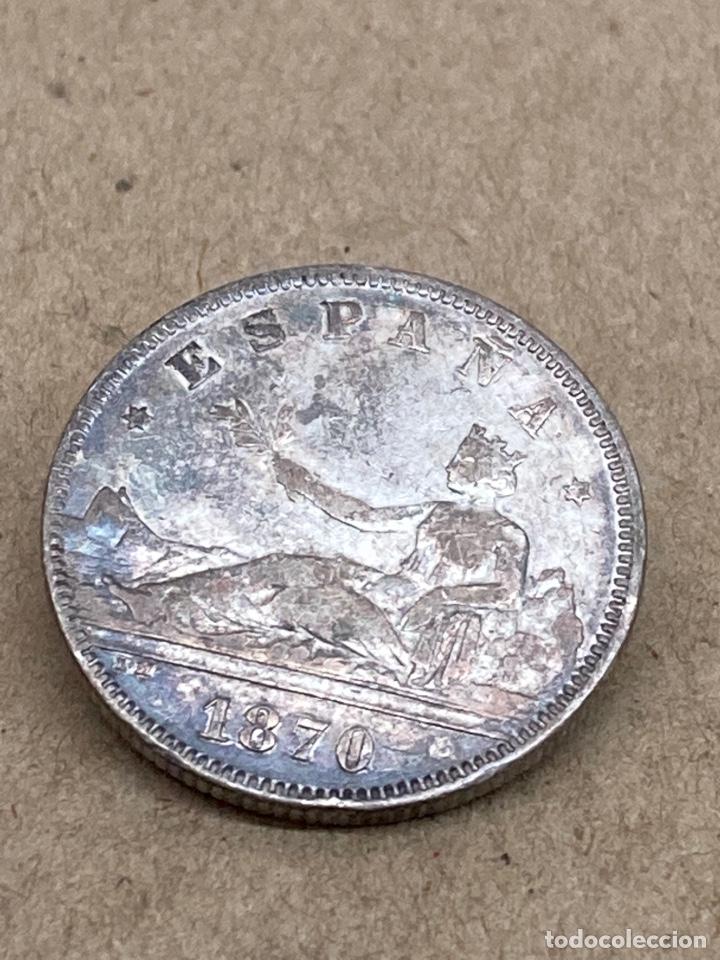 Monedas de España: Moneda de plata 2 pesetas 1870 - Foto 2 - 288529043