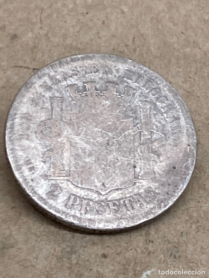 Monedas de España: Moneda de plata 2 pesetas 1870 - Foto 2 - 288530633