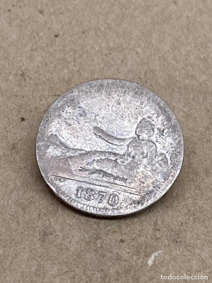 MONEDA DE PLATA 2 PESETAS 1870 (Numismática - España Modernas y Contemporáneas - De Isabel II (1.834) a Alfonso XIII (1.931))