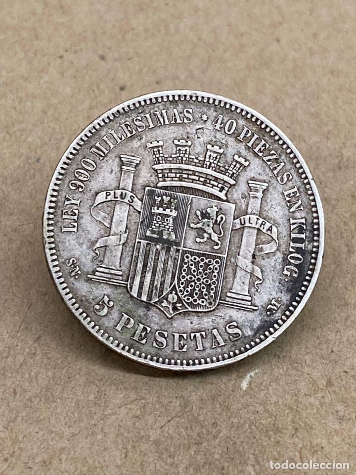 MONEDA DE PLATA 5 PESETAS 1870 (Numismática - España Modernas y Contemporáneas - De Isabel II (1.834) a Alfonso XIII (1.931))