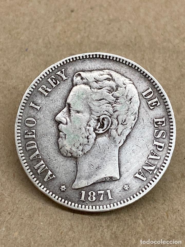 Monedas de España: Moneda de plata 5 pesetas 1871 - Foto 2 - 288533078