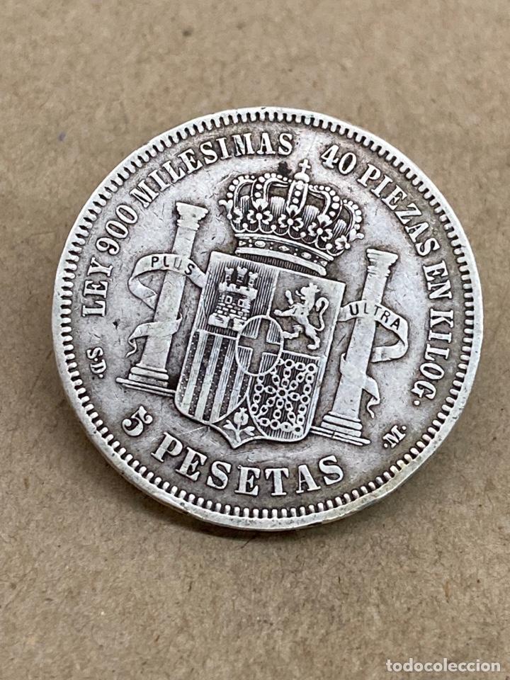 MONEDA DE PLATA 5 PESETAS 1871 (Numismática - España Modernas y Contemporáneas - De Isabel II (1.834) a Alfonso XIII (1.931))