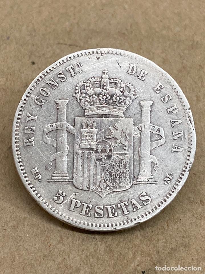 Monedas de España: Moneda de plata 5 pesetas 1885 MP M - Foto 2 - 288533688