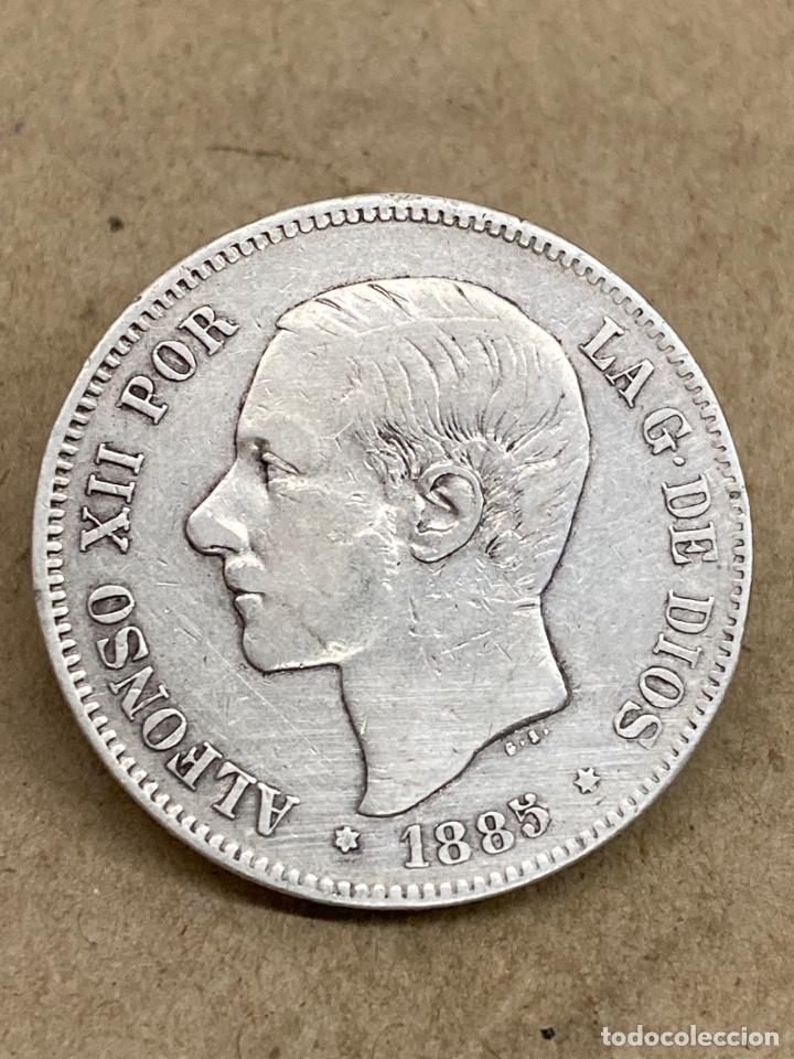 MONEDA DE PLATA 5 PESETAS 1885 MP M (Numismática - España Modernas y Contemporáneas - De Isabel II (1.834) a Alfonso XIII (1.931))