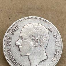 Monedas de España: MONEDA DE PLATA 5 PESETAS 1885 MP M. Lote 288533688