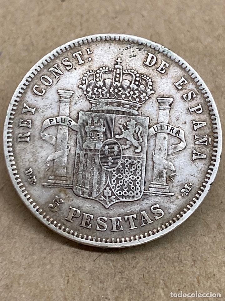 Monedas de España: Moneda de plata 5 pesetas 1878 DE M - Foto 2 - 288534633