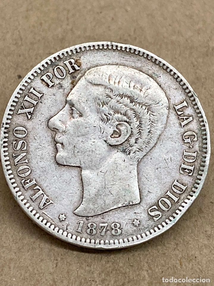 MONEDA DE PLATA 5 PESETAS 1878 DE M (Numismática - España Modernas y Contemporáneas - De Isabel II (1.834) a Alfonso XIII (1.931))