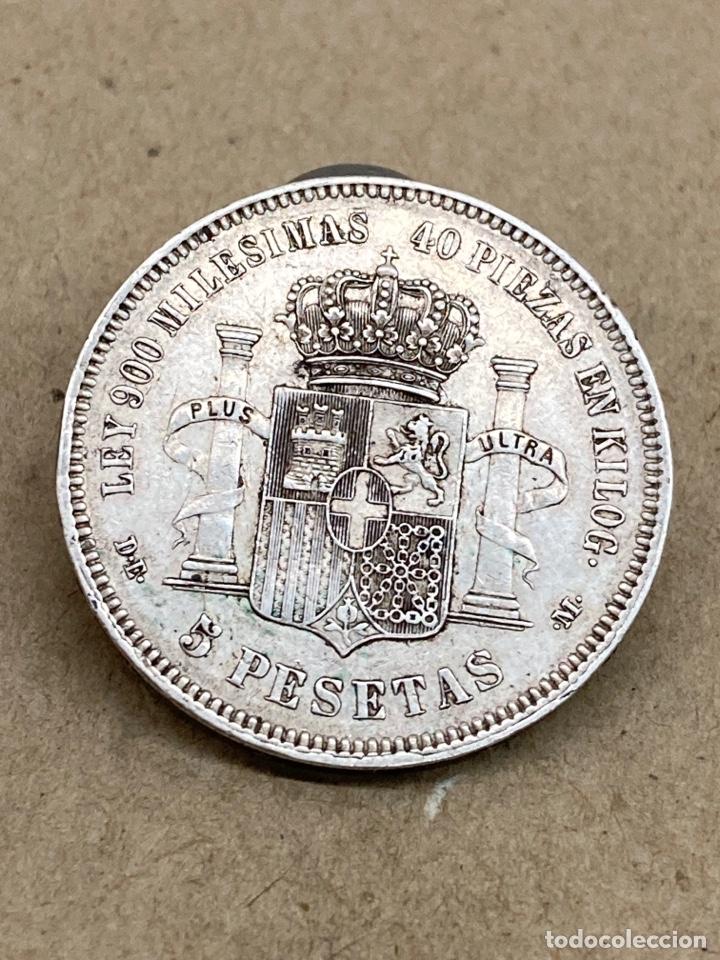 Monedas de España: Moneda de plata 5 pesetas 1871 DE M - Foto 2 - 288537513