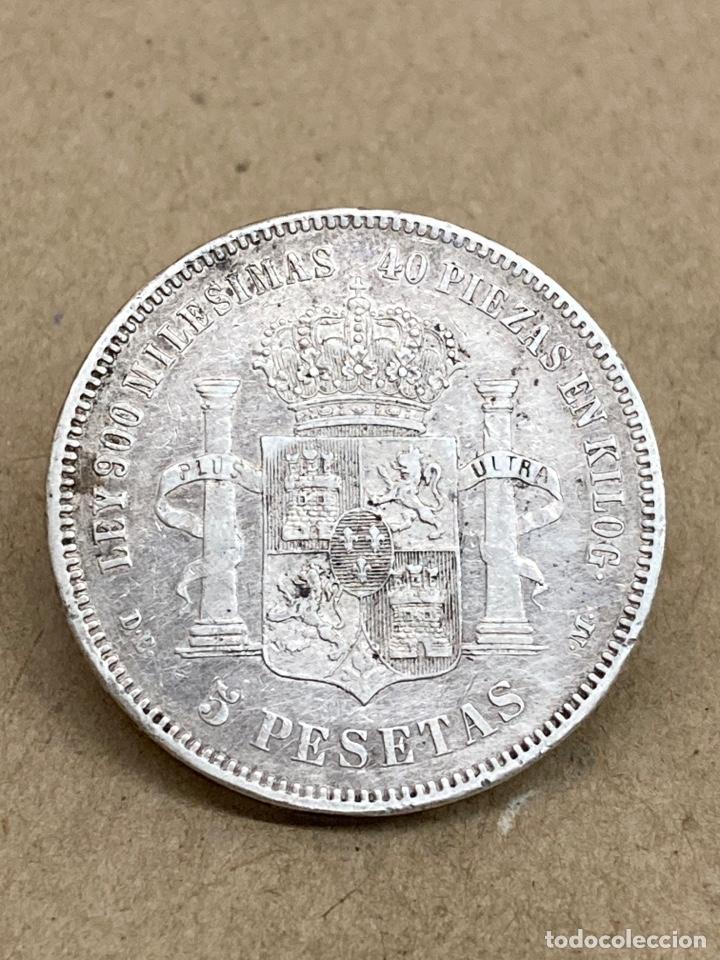 Monedas de España: Moneda de plata 5 pesetas 1875 - Foto 2 - 288540953