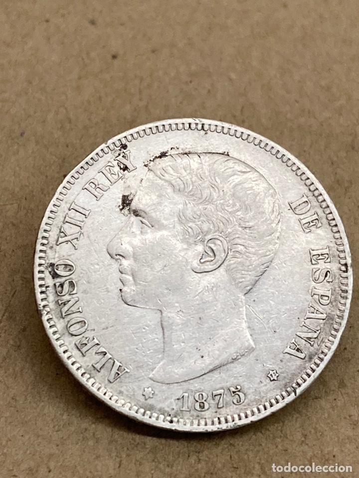 MONEDA DE PLATA 5 PESETAS 1875 (Numismática - España Modernas y Contemporáneas - De Isabel II (1.834) a Alfonso XIII (1.931))