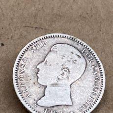 Monedas de España: MONEDA DE PLATA UNA PESETA 1904. Lote 288622363