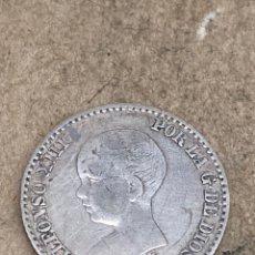 Monedas de España: MONEDA DE PLATA 0,50 CENT 1892. Lote 288643368
