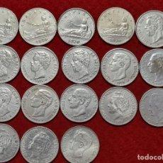 Monedas de España: LOTE DE 18 MONEDAS DE 5 PESETAS DUROS FALSOS NO SON PLATA MUY CONSEGUIDOS VER FOTOS. Lote 288948038