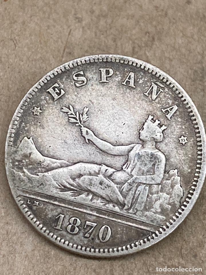 Monedas de España: Moneda de plata 2 pesetas 1870 - Foto 2 - 289420883