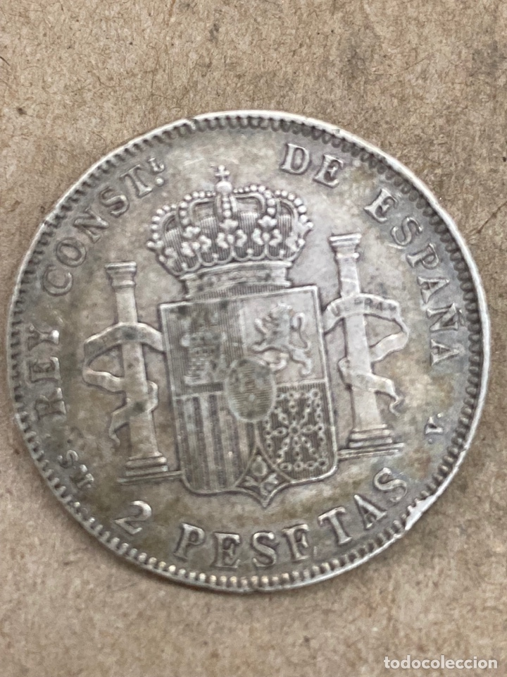 Monedas de España: Moneda de plata 2pesetas 1905 - Foto 2 - 289421813