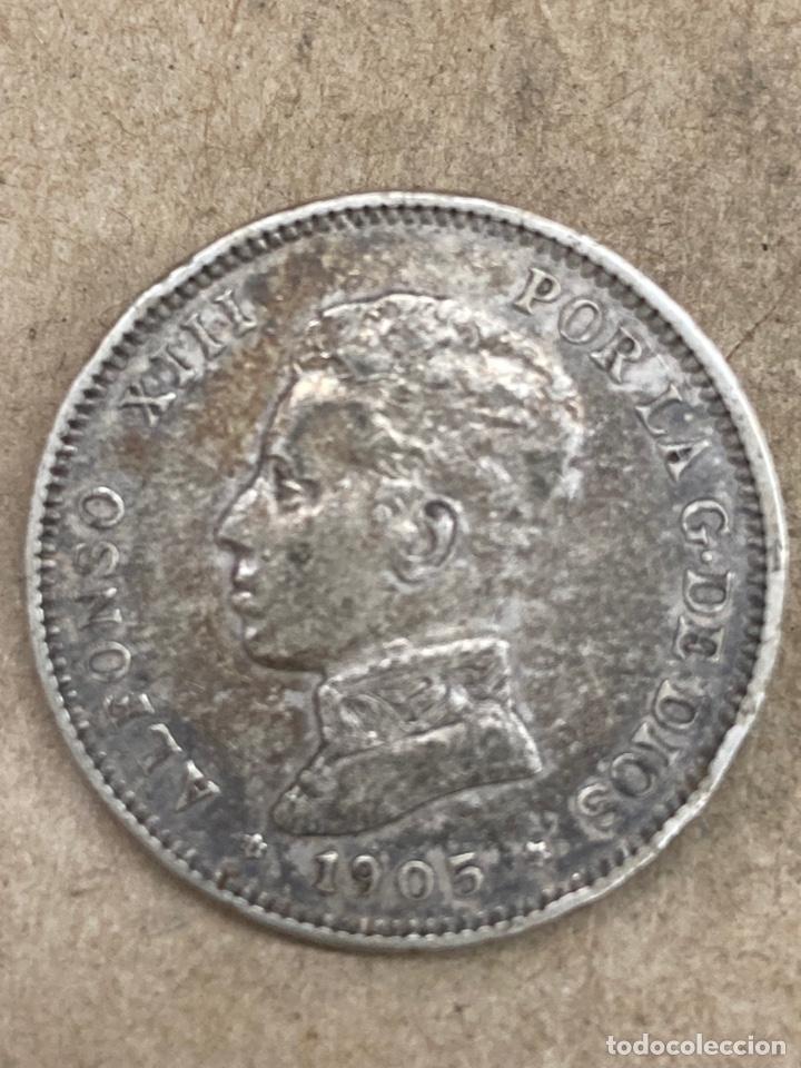 MONEDA DE PLATA 2PESETAS 1905 (Numismática - España Modernas y Contemporáneas - De Isabel II (1.834) a Alfonso XIII (1.931))