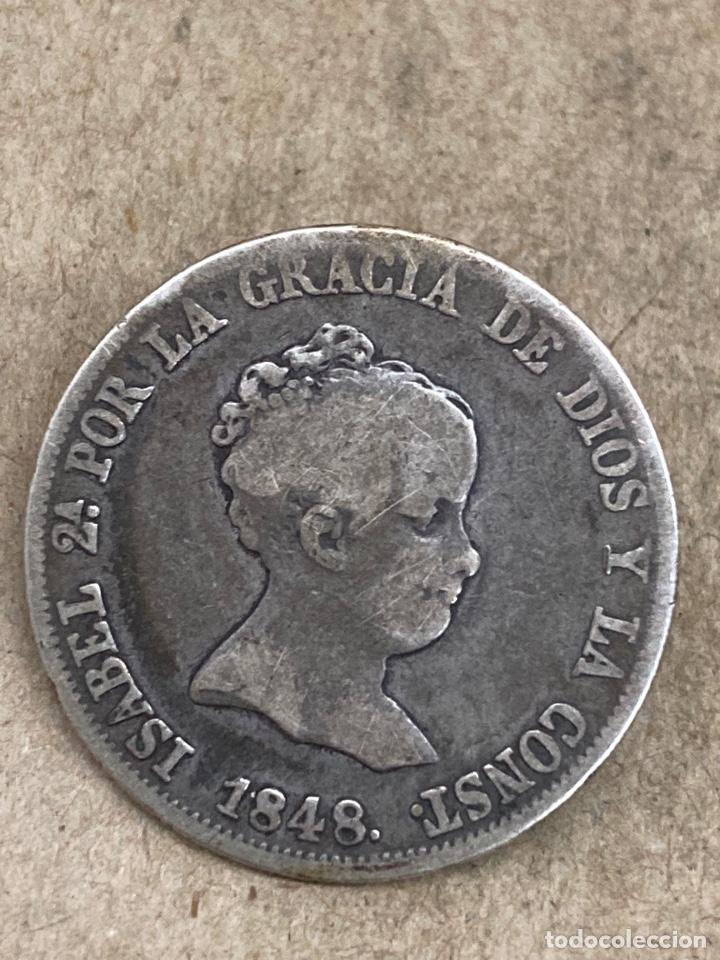 MONEDA DE PLATA 4 RS 1848 (Numismática - España Modernas y Contemporáneas - De Isabel II (1.834) a Alfonso XIII (1.931))