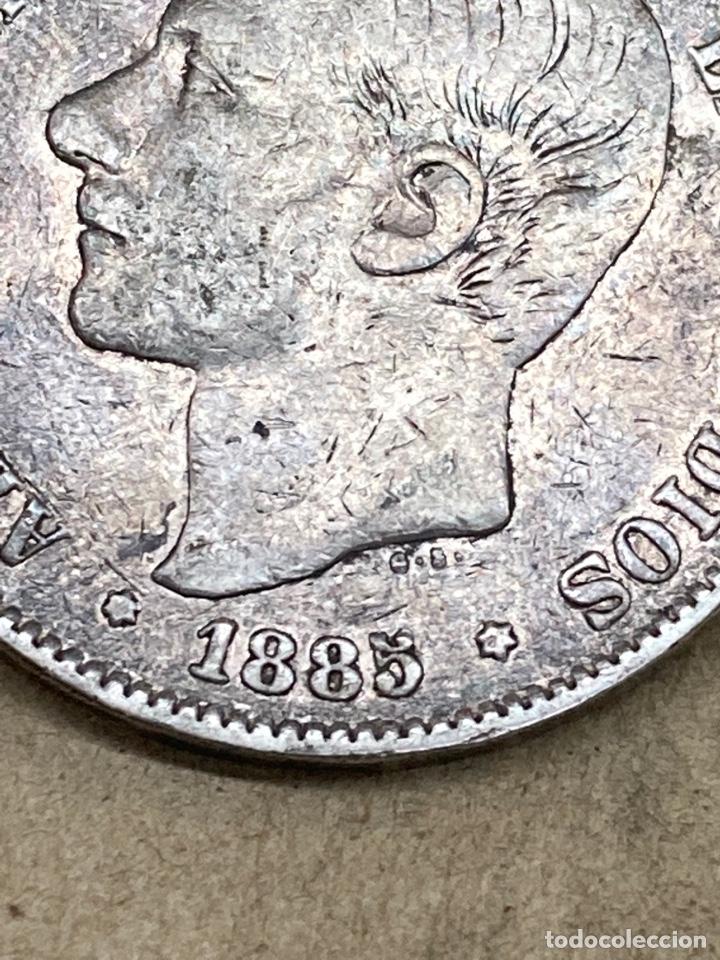 Monedas de España: Moneda de 5 pesetas 1885 E87 - Foto 3 - 289438693