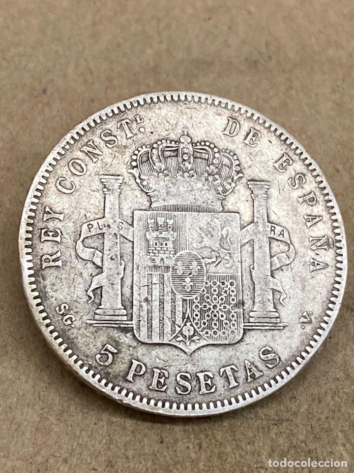 Monedas de España: Moneda de plata 5 pesetas 1897 E97 - Foto 2 - 289441163