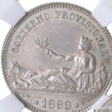 Monedas de España: GOBIERNO PROVISIONAL. 1 PESETA 1869 SIN CIRCULAR. NN-COIN MS 62. Lote 289513248