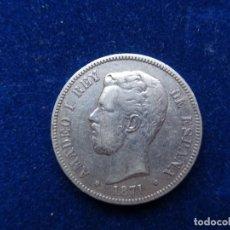 Monete da Spagna: ESPAÑA 5 PESETAS 1871 ESTRELLA 71 AMADEO I PLATA. Lote 289561148