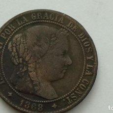 Monedas de España: ISABEL II - 2 1/2 CTMO ESCUDO 1868 JUBIA O.M. MBC. (M86). Lote 289567728