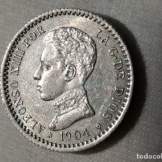 Monedas de España: ALFONSO XIII 50 CÉNTIMOS 1904 SMV. EBC+. Lote 289580488