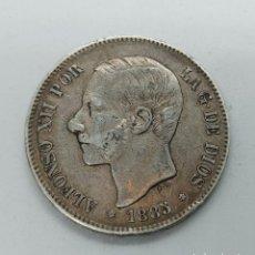 Monedas de España: MONEDA DE PLATA 5 PESETAS DE ALFONSO XII 1885 ESTRELLA 87. Lote 289665038