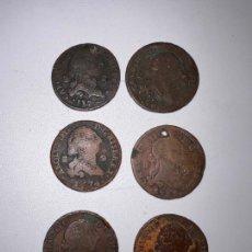 Monedas de España: LOTE DE 6 MONEDAS. CARLOS III. 2 MARAVEDIS - MARAVEDIES. AÑOS 1777-1774-1778-1788. VER. Lote 290367878