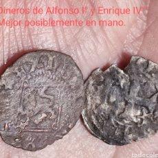 Monedas de España: *NUMA*.-L._2.-DINEROS (2) 1.-ALFONSO I° (EL BATALLADOR) Y 2.- ENRIQUE IV°.. Lote 292330968