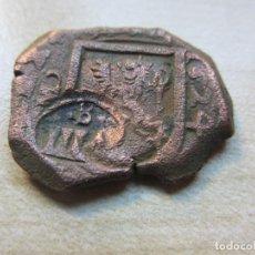 Monedas de España: MONEDA DE 8 MARAVEDÍS DE FELIPE IV CECA MADRID FECHADA 1624 Y RESELLADA EN SEVILLA. Lote 292347088
