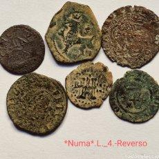 Monedas de España: *NUMA* LOTE ._4.- CONJUNTO 6 MEDIEVALES BONITAS, EN MANO AÚN MÁS.. Lote 292372803