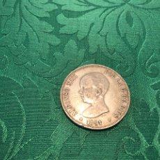 Monedas de España: 5 PESETAS, DURO DE PLATA ALFONSO XIII 1891.. Lote 293340398