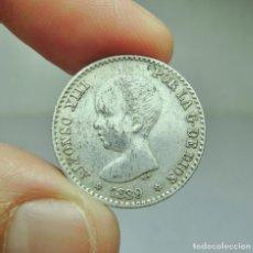 Monedas de España: 50 CÉNTIMOS. PLATA. ALFONSO XIII. 1889 *8 *9. Lote 293569013