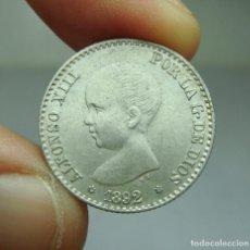 Monedas de España: 50 CÉNTIMOS. PLATA. ALFONSO XIII. 1892 *9 *2. Lote 293570493